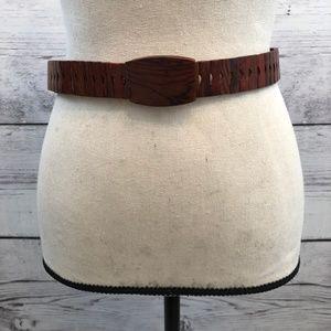 Vintage Unique Wooden Belt Size 26-36 Boho Hippy
